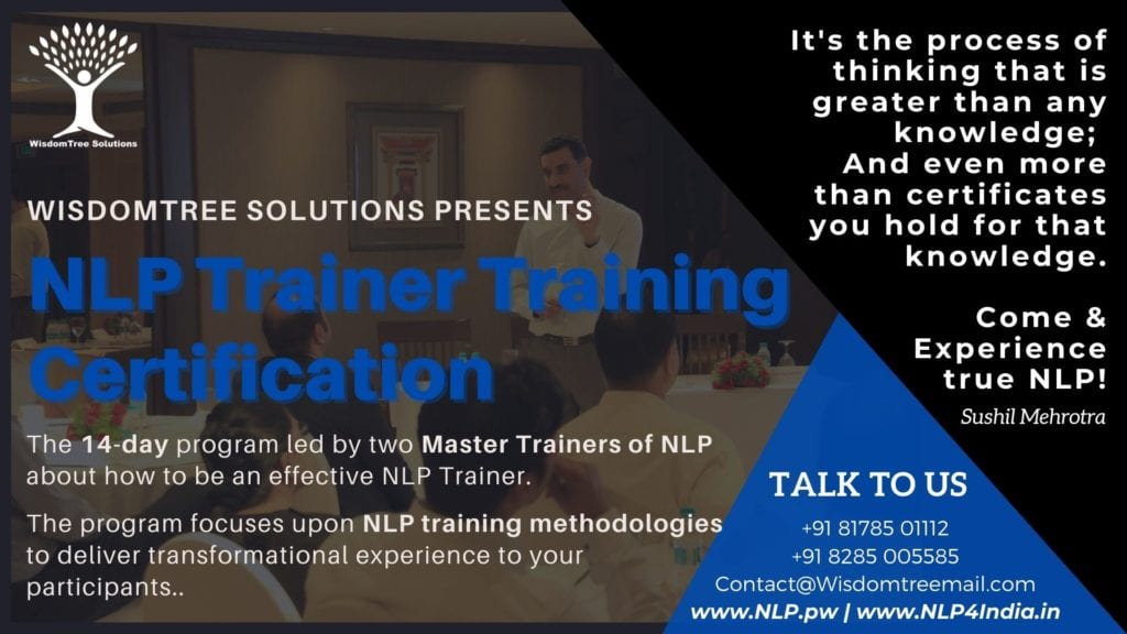 NLP Trainer Training Certification