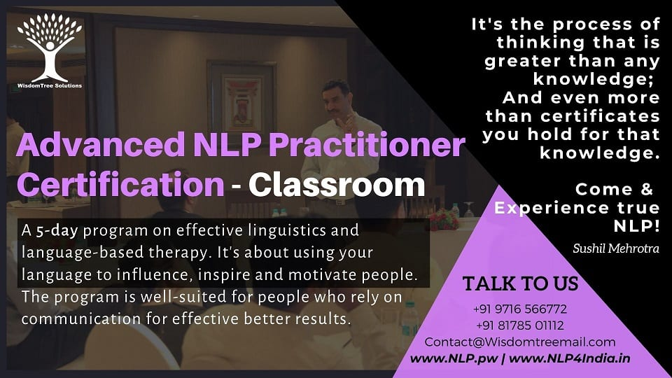 Advance NLP Practitioner Certification