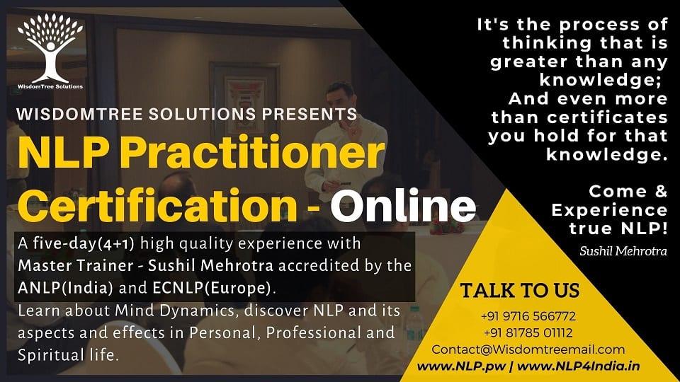 NLP Associate Practitioner Certification - Online